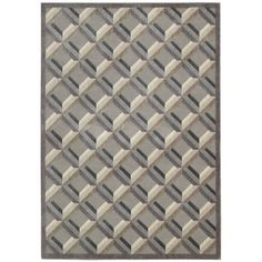 "Nourison Graphic Illusions Black/Gray Geometric Area Rug Rug Size: Runner 2'3"" x 8'"