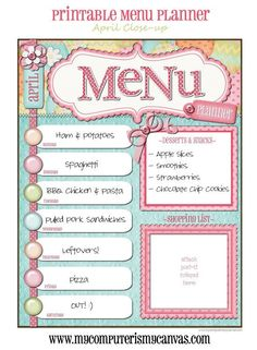 dinner menu template for home - 1000 images about for the home on pinterest family
