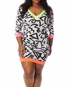 088a88c1dd1 Plus Print Bodycon Dress – Curvy Craves Boutique shopcurvycraves.com   plussize  plus  bbw  bbwfashion  bodypositive