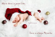 Newborn Christmas Hat And Diaper Cover You Pick The Colors And The Size Between Newborn To Tweleve Month. $46.00, via Etsy.