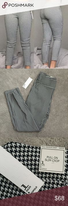 Black & White Tight Pants NWT, perfect condition, super cute! Jules & Leopold Pants Ankle & Cropped