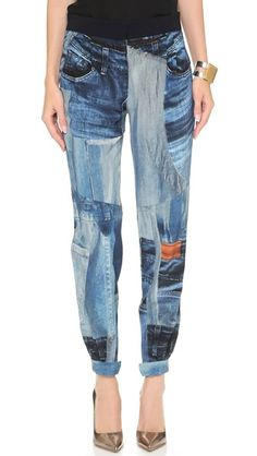 Victoria Victoria Beckham Printed Cropped Pants