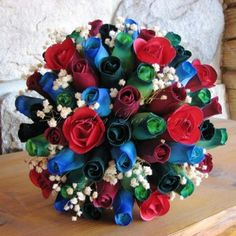 Wooden Roses from Camelot Wooden Roses, 4th Of July Wreath, Wedding Bouquets, Bloom, Colours, Wreaths, Crafts, Inspiration, Home Decor