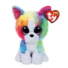 TY Beanie Boo Small Isla the Rainbow Bulldog Plush Toy