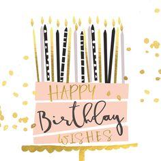 Happy Birthday Wishes Happy Birthday Love Quotes, Happy Birthday Wishes Cards, Birthday Blessings, Best Birthday Wishes, Happy Birthday Images, Birthday Msgs, Facebook Birthday, Happy Birthday Illustration, Birthdays
