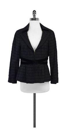 Nanette Lepore Black Textured Jacket