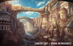 Sonic & All-Stars Racing Transformed Concept Art - Dragon Canyon (Panzer Dragoon) Fantasy City, Fantasy Castle, Fantasy Places, Fantasy Map, High Fantasy, Fantasy World, Fantasy Art Landscapes, Fantasy Landscape, Fantasy Concept Art