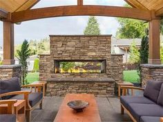 """Backyard Patio Pergola Fireplaces Best Ideas Linear 60 """"gas fireplace for outdoor use How to make an outdoor fireplace in 4 stepsHow to build an outdoor fireplace Step Stack the parts of a Outdoor Decor, Patio Design, Fireplace Design, Outdoor Gas Fireplace, Outdoor Patio Decor, Outdoor Kitchen"""