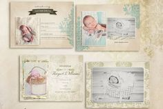 Check out Simply Birth Announcement Cards by 7th Avenue Designs on Creative Market