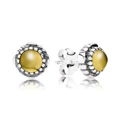 Go for yellow accessories this Easter. PANDORA's sterling silver earrings with citrine will brighten up any outfit. #PANDORA #PANDORAearrings