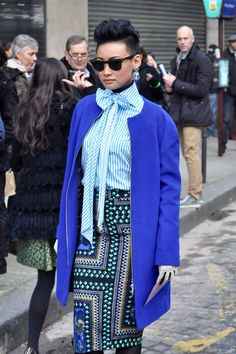 Tendance Chaussures 2017/ 2018 : Esther Quek #streetstyle #PFW   image by StunningStreetstyle