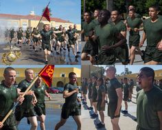 The new Marines of India Company, 3rd Recruit Training Battalion, participate in a motivational run at Marine Corps Recruit Depot, San Diego. Patriotic Poems, Marine Corps, Marines, San Diego, Motivational, United States, Training, India, America