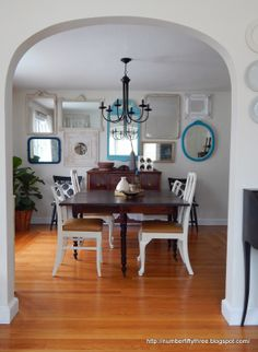 Number Fifty-Three: Vintage Mirror Gallery Wall might be pretty in our dining room