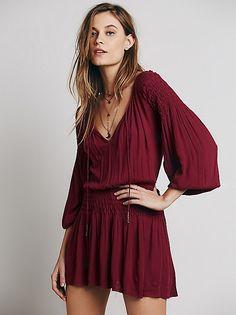 Red Merlot Boho Dress, Free People