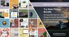 ❤️ SOCIAL MEDIA CONTENT ❤️ 🏓 Try New Things Bundle 🏓 - When was the last time you tried something new? There are countless reasons to try new things in your life. Trying something new doesn't mean that you have to risk life and limb. No, trying new things just means you need to experience something different. Share the images in this bundle with your social media followers and encourage them to try something new for the first time! #TrySomethingNew #SocialMedia