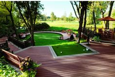 """Looking for an out-of-the-box deck design? From golf courses to meditation areas, Trex's """"Unique Applications"""" photo gallery shows off all the creative ways that Trex can be used in your outdoor living space."""