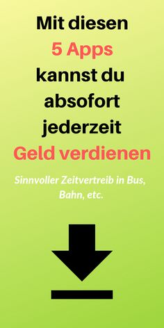 Mit Apps Geld verdienen – So einfach geht's! – Lebensheld How you can earn money with apps and so easily upgrade your pocket money, or just have a nice sum every month extra. Make Money From Home, Make Money Online, How To Make Money, Money Plan, Money Tips, Investing Money, Saving Money, Job Motivation, Pocket Money