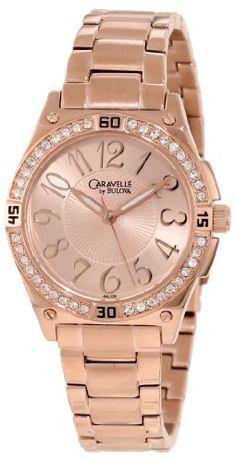 Caravelle by Bulova Women's 44L108 Crystal Bracelet Watch -