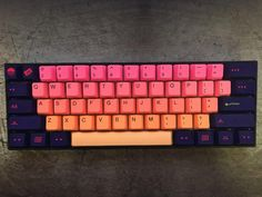 Who's got their GMK Laser already? Does it look as good as this Anne Pro with Tai-Hao Sunshine and GMK Laser by u/Tiny_Glancer? As a side note have y. Gaming Room Setup, Computer Setup, Pc Setup, Desk Setup, Computer Gadgets, Gaming Computer, Computer Keyboard, Technology Gadgets, Technology Apple