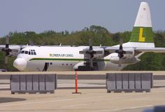 LYNDEN AIR CARGO, Lockheed L-100-30 Hercules, N406LC, at WRI, Wrightstown McGuire AFB, New Jersey, USA. May, 2007