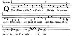 Gregorianischer Choral: St. Januarius - Communio: Quod dico vobis