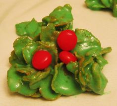 Meaning of the holly and the recipe to make them! Awesome combo for a cookie exchange.