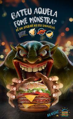 53 trendy Ideas for design food ideas graphics illustrations Food Graphic Design, Food Poster Design, Ad Design, Burger Menu, Gourmet Burgers, Food Park, Fast Food Chains, Creative Advertising, Social Media Design