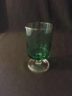 Green Sherry Luminarc Glass by AimeEncore on Etsy https://www.etsy.com/uk/listing/261318724/green-sherry-luminarc-glass