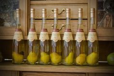 Pear is grown inside of the bottle to make a Brandy, Oregon Distillery in Portland