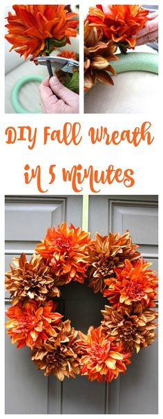 Fall Wreath This is a great Fall project to make. This DIY Fall Wreath is such a cute craft.This is a great Fall project to make. This DIY Fall Wreath is such a cute craft. Easy Fall Wreaths, Diy Fall Wreath, Wreath Ideas, Fall Door Wreaths, Fall Wreath Tutorial, Fall Garland, Mesh Wreaths, Autumn Crafts, Holiday Crafts