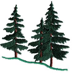 Evergreen Trees embroidery design