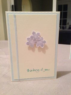 'Thinking of you' Stampin Up / DSP / Petal punch
