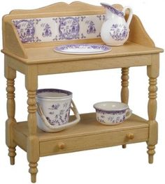 Blue Willow wash stand