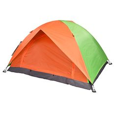 3c7ad99b17224b DoubleLayer Tent SODIALR Folding DoubleLayer Waterproof 2 Persons Tent  OrangeGreen *** Click image for more details.