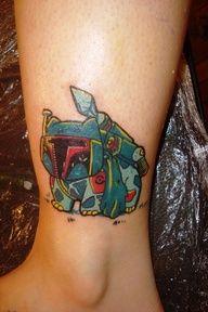 Bulbasaur + Boba Fett = BulbaFett Pokemon Tattoo on Global Geek News.