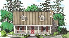 This 2 story Cottage features 1370 sq feet. Call us at 866-214-2242 to talk to a House Plan Specialist about your future dream home!