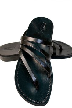 4110edc1c2a28c Black Rainbow Leather Sandals For Men   Women - Handmade Unisex Sandals