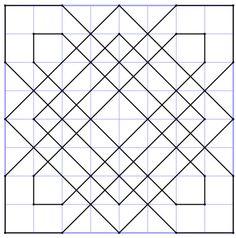 reproSurQuadrillage6 Blackwork Patterns, Blackwork Embroidery, Zentangle Patterns, Barn Quilt Designs, Barn Quilt Patterns, Quilting Designs, Graph Paper Drawings, Graph Paper Art, Geometric Drawing