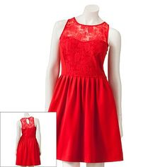 a48a0651c6 LC Lauren Conrad Lace Fit and Flare Dress..Biggest Kohls Clearance Event