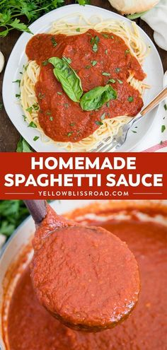 Spaghetti Sauce Easy Homemade Spaghetti Sauce - Simple to make and so much better than jarred. Make a double or triple batch to freeze for later so you're always ready for spaghetti night!Better Better may refer to: Spaghetti Sauce Easy, Spaghetti Recipes, Pasta Recipes, Cooking Recipes, Spaghetti Sauce Recipes Vegetarian, Italian Spaghetti Sauce, Slow Cooking, Cooking Tips, Sauces