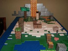 minecraft party idea (maybe on the dresser?)