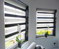 #rollo #schwarzweiß #design #living Macht Euer Zuhause schöner mit unseren Rollos.