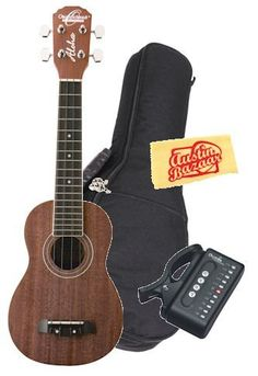 Oscar Schmidt by Washburn OU12 Soprano Ukulele Bundle with Gig Bag, Tuner, and Polishing Cloth - Mahogany Top, Back, and Sides by Oscar Schmidt. Save 33 Off!. $79.95. Bundle includes Oscar Schmidt by Washburn OU12 Soprano Ukulele with Gig Bag, Cherub Tuner, and Polishing Cloth.These satin finish mahogany ukuleles offer a lively full body that resonates with sparkling highs and warm lows. While very affordable, these wonderful instruments produce a rich welcome to the love of pla...