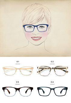 aa2d51a0b56 The best glasses for a round face shape Eyeglasses For Women Round Face