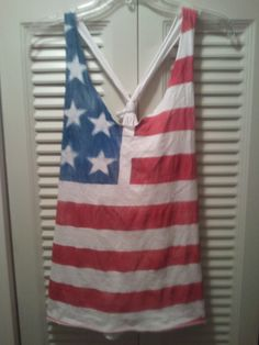 DIY Flag Shirt    cause this is america and we speak american
