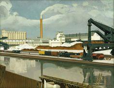 """Patrimonio Industrial Arquitectónico: Pintura """"American Landscape"""" de Charles Sheeler"""