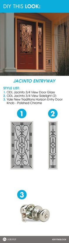 Jacinto Door Glass paired with a Polished Chrome Yale Door Knob.