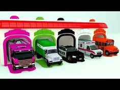 Colors for Children to Learn with Street Vehicles - Colours for Kids to ...