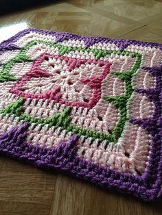 """Larksfoot Inspired 12"""" Granny Square ~ free pattern ᛡ [ """"Larksfoot Inspired Granny Square ~ free pattern ᛡ"""" ] # # #People, # #Square #Patterns, # #Crochet #Granny #Squares, # #Free #Pattern, # #Dishcloth, # #Libraries, # #Pattern #Library, # #Blanket, # #Fethiye"""