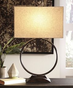 Fayth Table Lamp, by Ashley HomeStore, Bronze Finish Dying Of The Light, Metal Table Lamps, Chandelier Lamp, Lamp Light, Rustic Decor, Contemporary Design, Sweet Home, New Homes, Lights